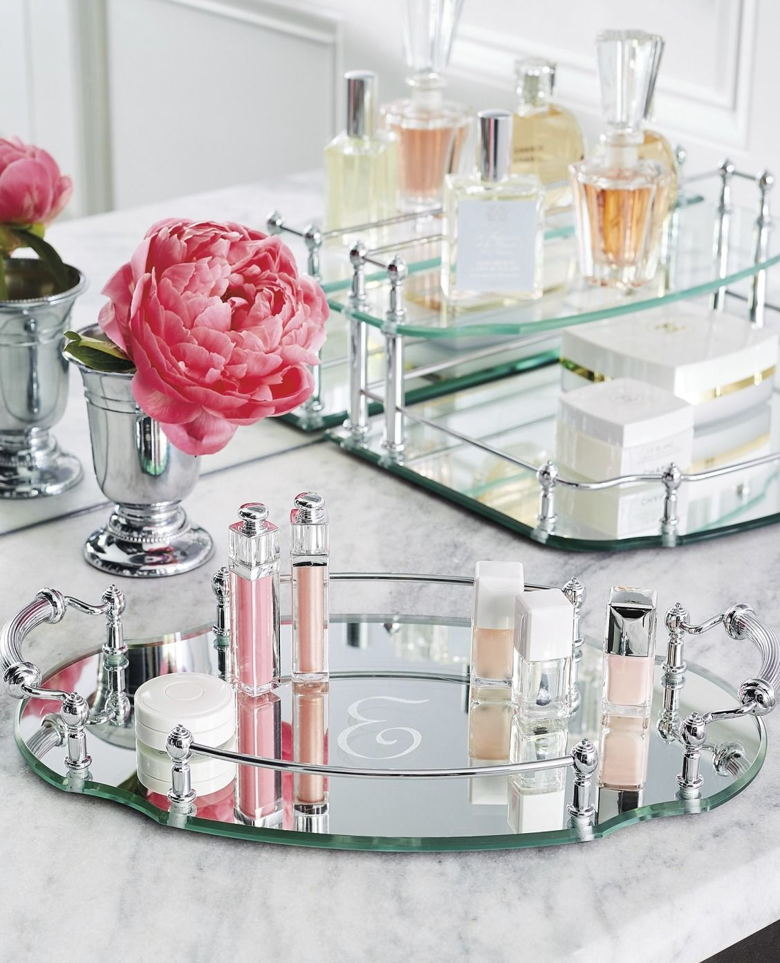 our belmont personalized oval vanity tray is an exquisite showcase for perfumes jewelry or - Bathroom Accessories Vanity Tray