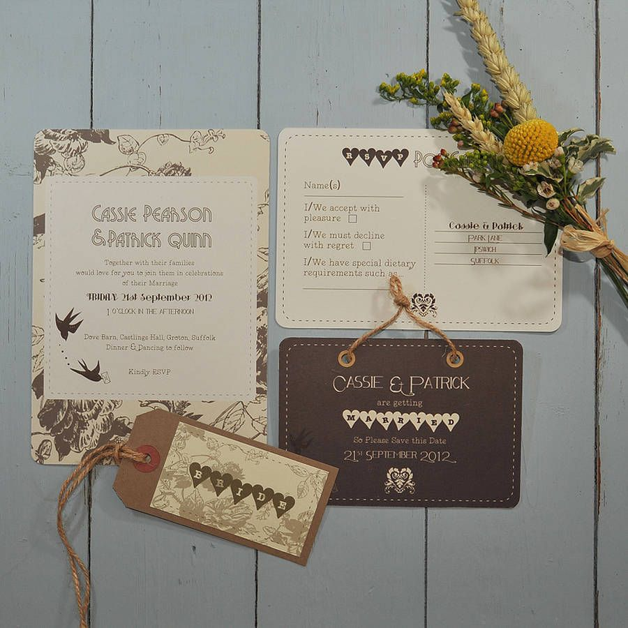 If I was having an Autumn wedding... Love Letter Wedding Stationery ...