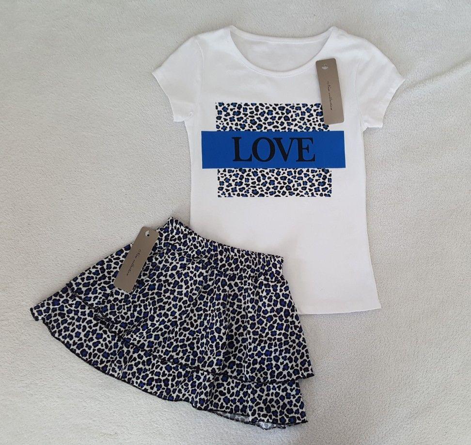 20490391da0 Dit leuke set, wat bestaat uit een panterprint rok met bijpassend t ...