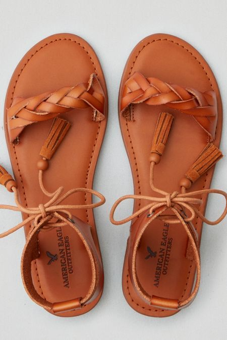 American Eagle Outfitters Ae Lace Up Ankle Sandal Ankle Sandals American Eagle Sandals Nike Shoes Women