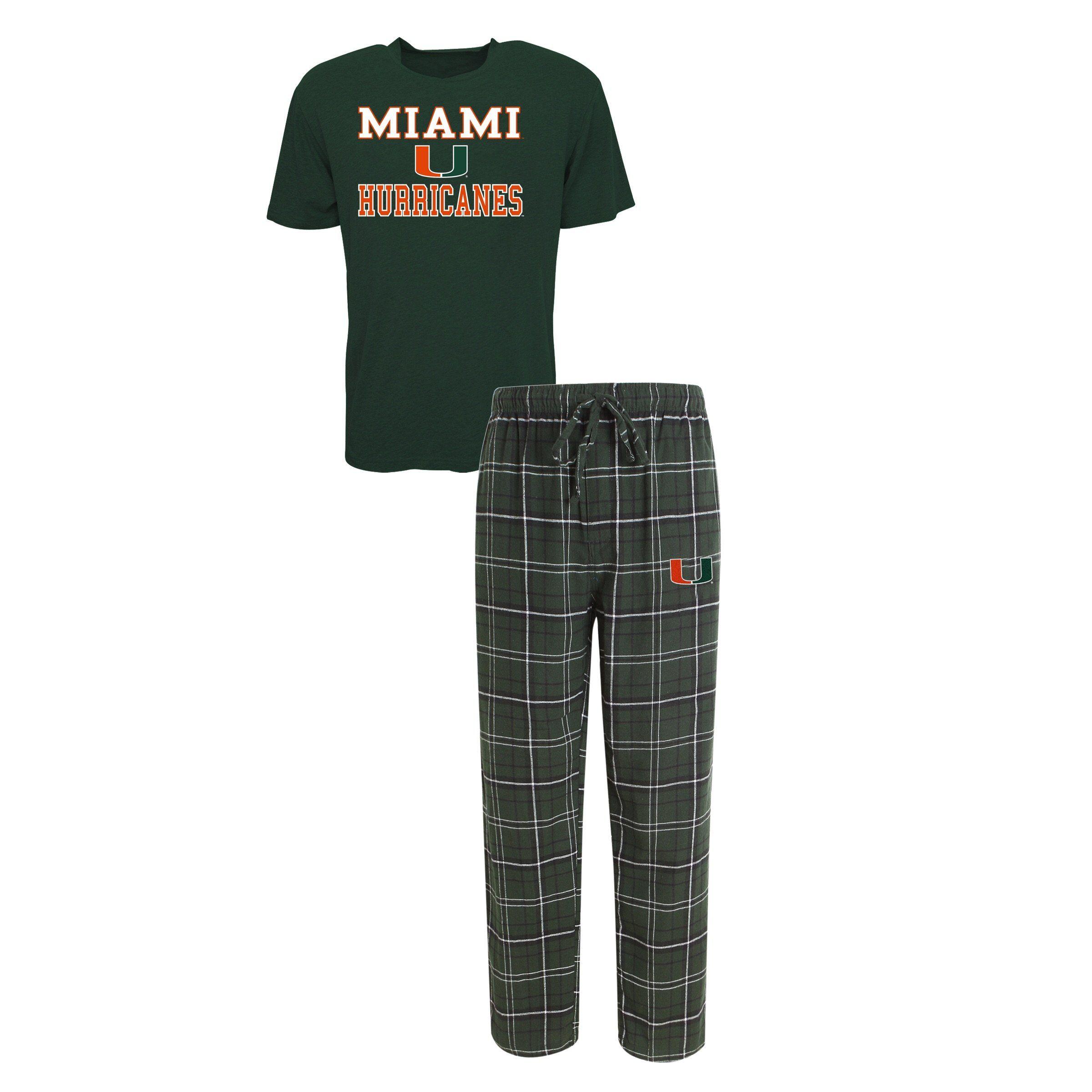 Miami Hurricanes Halftime Pajamas Shirt /& Pant Sleep Set