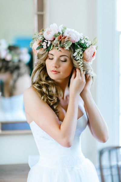 Now this is a serious flower crown: http://www.stylemepretty.com/south-carolina-weddings/2014/09/05/russian-wedding-meets-southern-charm/ | Photography: Pasha Belman - http://pashabelman.com/