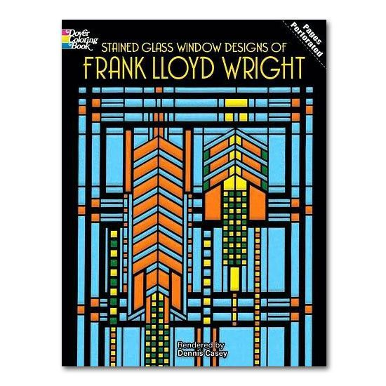 Stained Glass Window Designs of Frank Lloyd Wright Coloring Book ...