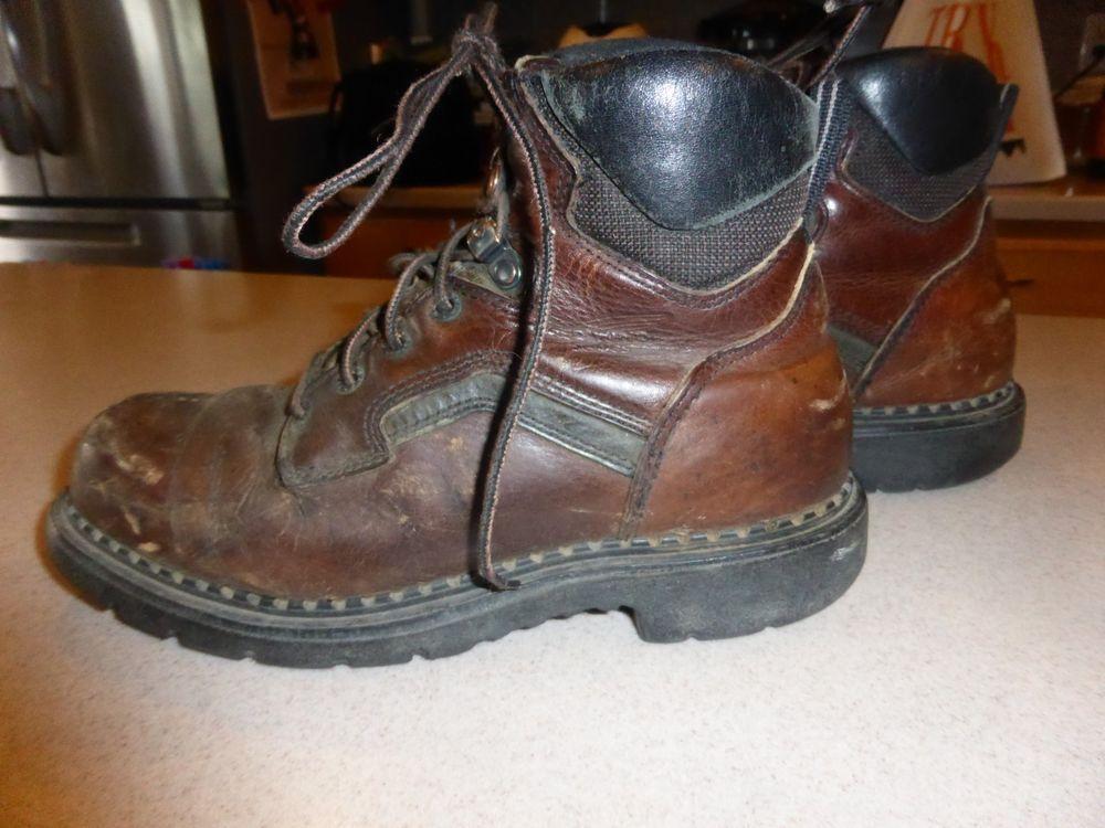 Details about ROT Wing  Herren Pecos Pecos Pecos Braun Leder Steel Toe Work Stiefel ad4c50