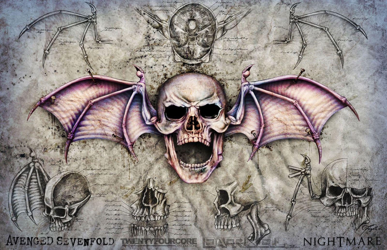 Avenged Sevenfold Desktop Background 17 Skull Artwork Avenged Sevenfold Wallpapers Avenged Sevenfold