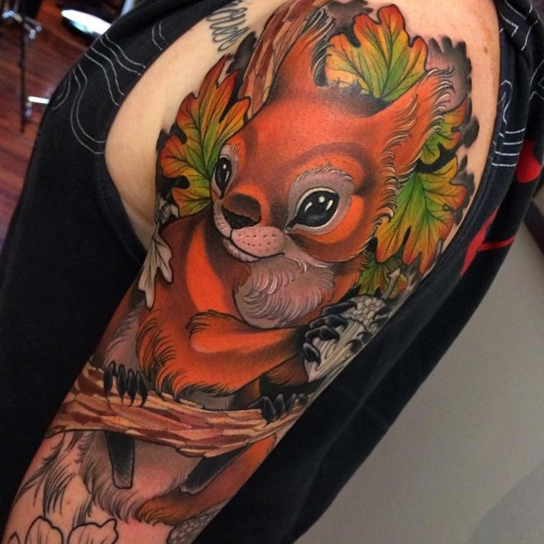 Pretty Squirrel Tattoo Tatuaje De Ardilla Tatuajes De Animales