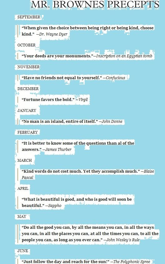 Precepts From Wonder By R J Palacio Wonder Quotes Wonder
