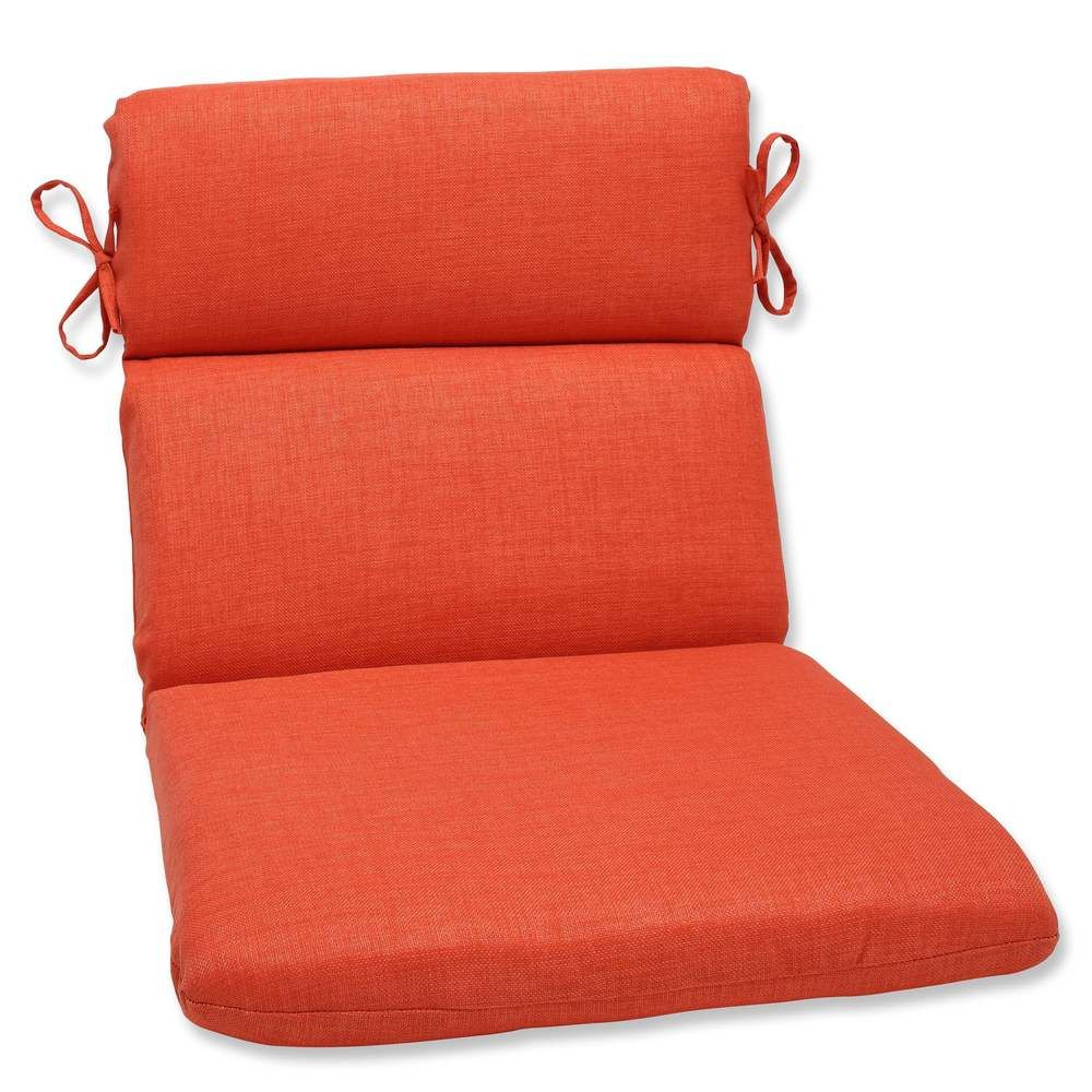 Pillow Perfect Outdoor/ Indoor Rave Coral Rounded Corners Chair Cushion