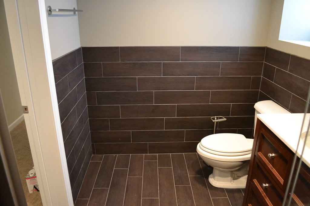 Floor tile extends to wall bathrooms pinterest in for Bathroom wall pictures