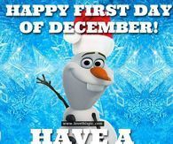 Photo of Olaf First Day Of December Quote –  Hello December Christmas Wreath Quote Pictur…
