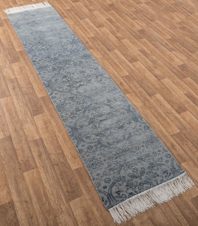2 5x11 9 Ft Runner Handmade Wool Silk Runner Rug 6679 Etsy Rugs Artisan Rugs Bamboo Silk 9 ft runner rugs