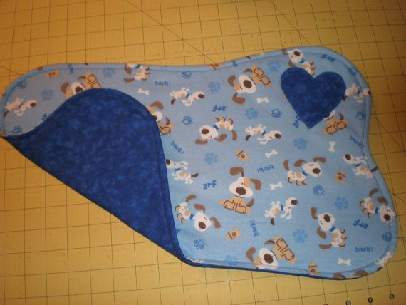Blue Reversible Cotton Quilted Dog Bone by TheHomespunLoft on Etsy, $4.00
