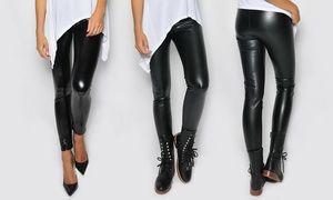 Leggings ou pantalon effet cuir en 2 modèles  0bb0e9f49a1
