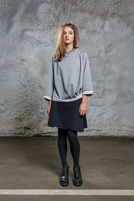 Diba se Diva - Cozy Sweater grey/rosé