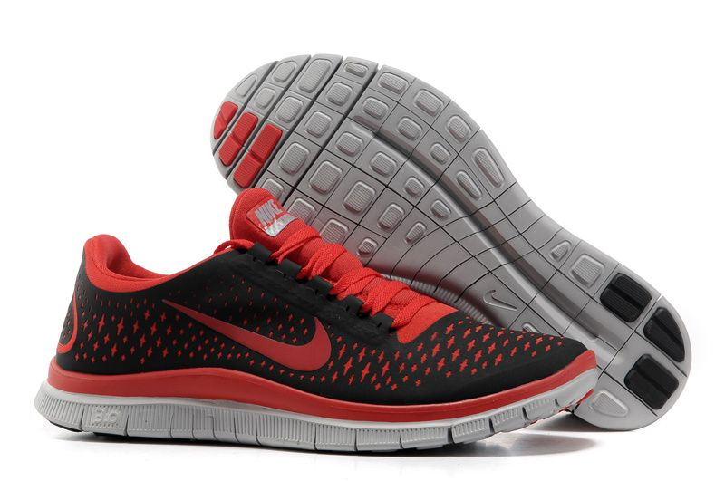 Black Gym Red Wolf Grey Nike Free 3.0 V4 Men's Running Shoes Discount  #Wholesale for