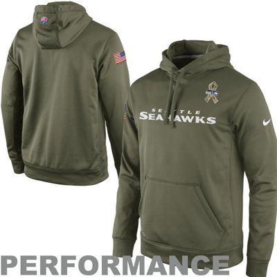 quality design 8a25e 4ba12 Nike Seattle Seahawks Salute to Service KO Pullover ...