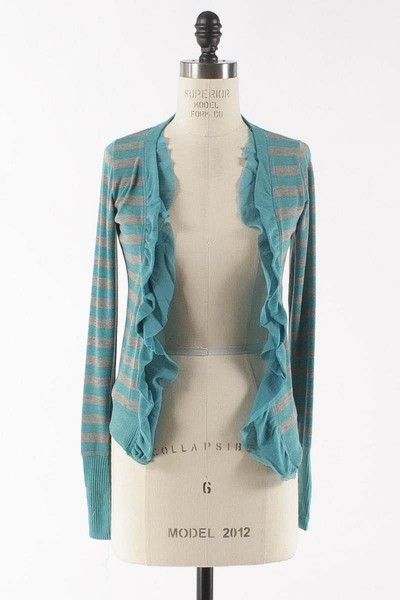 Dottie Couture Boutique - Striped Open Sweater- Teal , $42.00 (http://www.dottiecouture.com/striped-open-sweater-teal/)