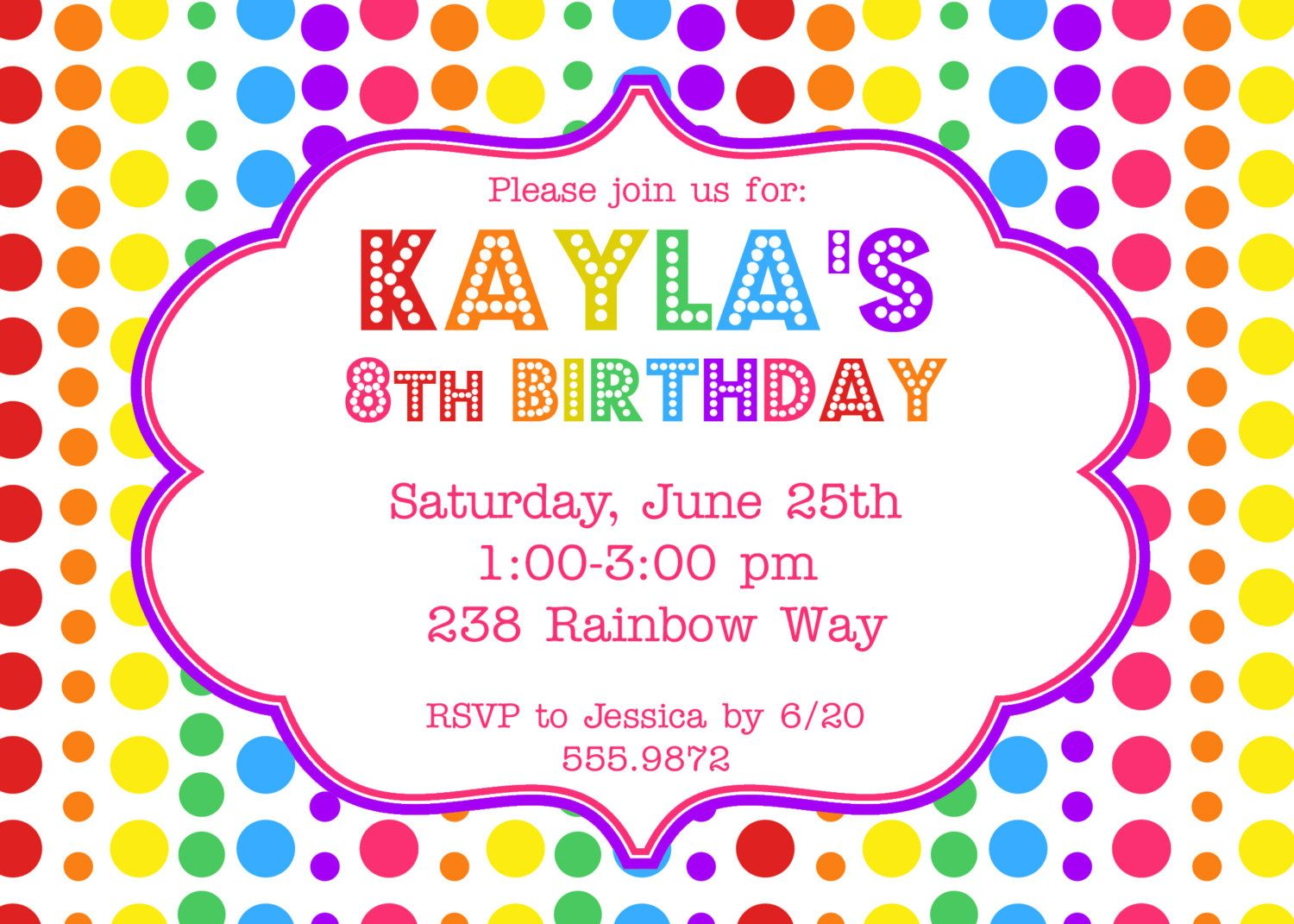 rainbow birthday party invitation  via etsy  party, party invitations