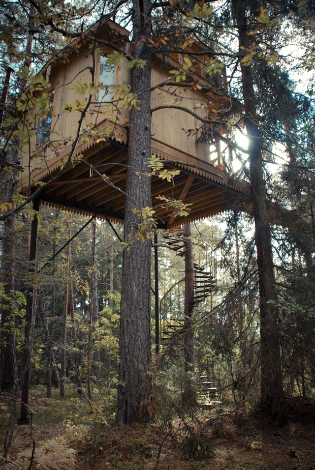 Futuristic Nature House Design: 'Urnatur', In Swedish Means 'ancient Nature'. Wooden