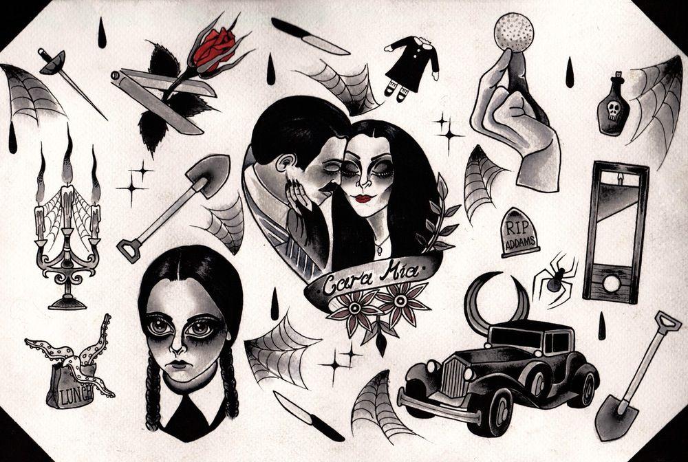 Image of 'The Addams Family' Flash Print