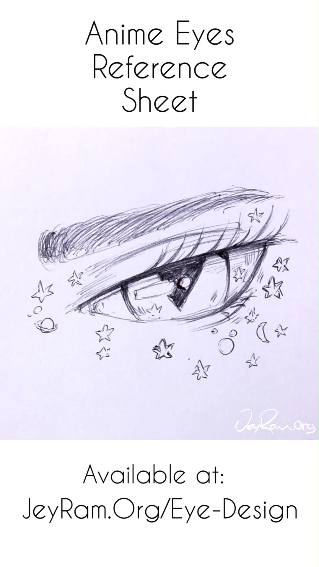 Photo of Anime Eye Drawing Reference : Female Manga Anatomy