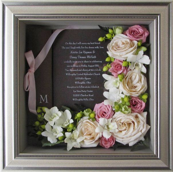 Keep Your Bouquet Have It Preserved And Framed To Display In Home