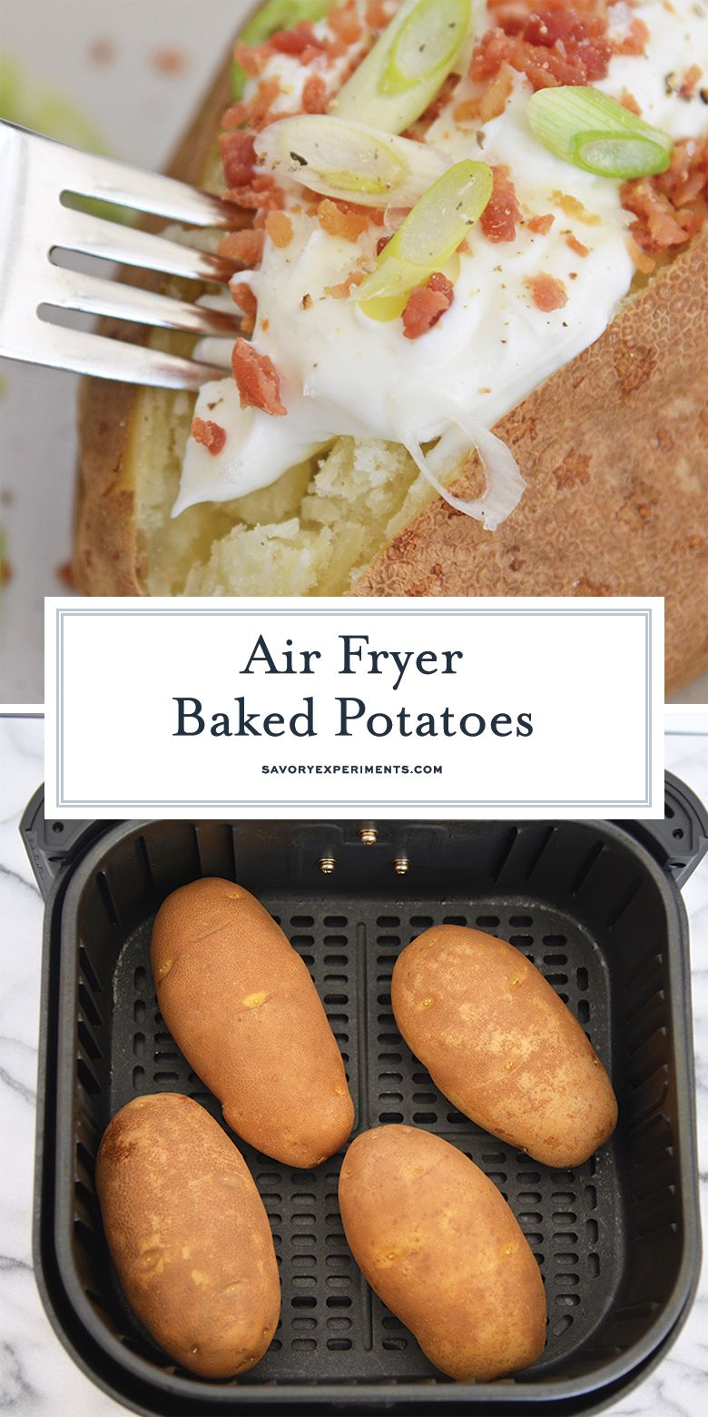 Air Fryer Baked Potatoes make the fluffiest potatoes with