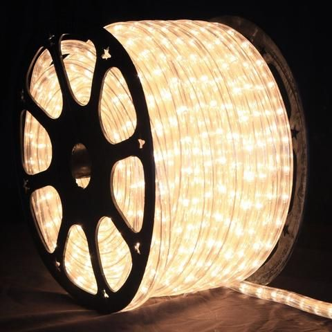 Led Rope Light Warm White 1 2 Inch 150 Ft Led Rope Lights Outdoor Rope Lights Christmas Light Installation