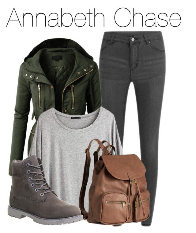 Annabeth Chase - Percy Jackson by libbysfashion on Polyvore featuring Chicnova Fashion, LE3NO, Cheap Monday, Timberland, H&M, percyjackson, themed and annabethchase