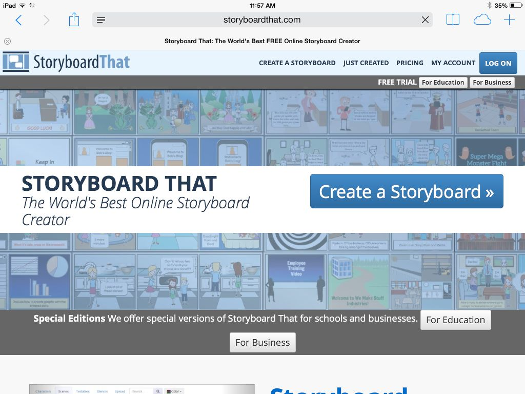 Storyboard That Project Design Program  Tech For Teaching