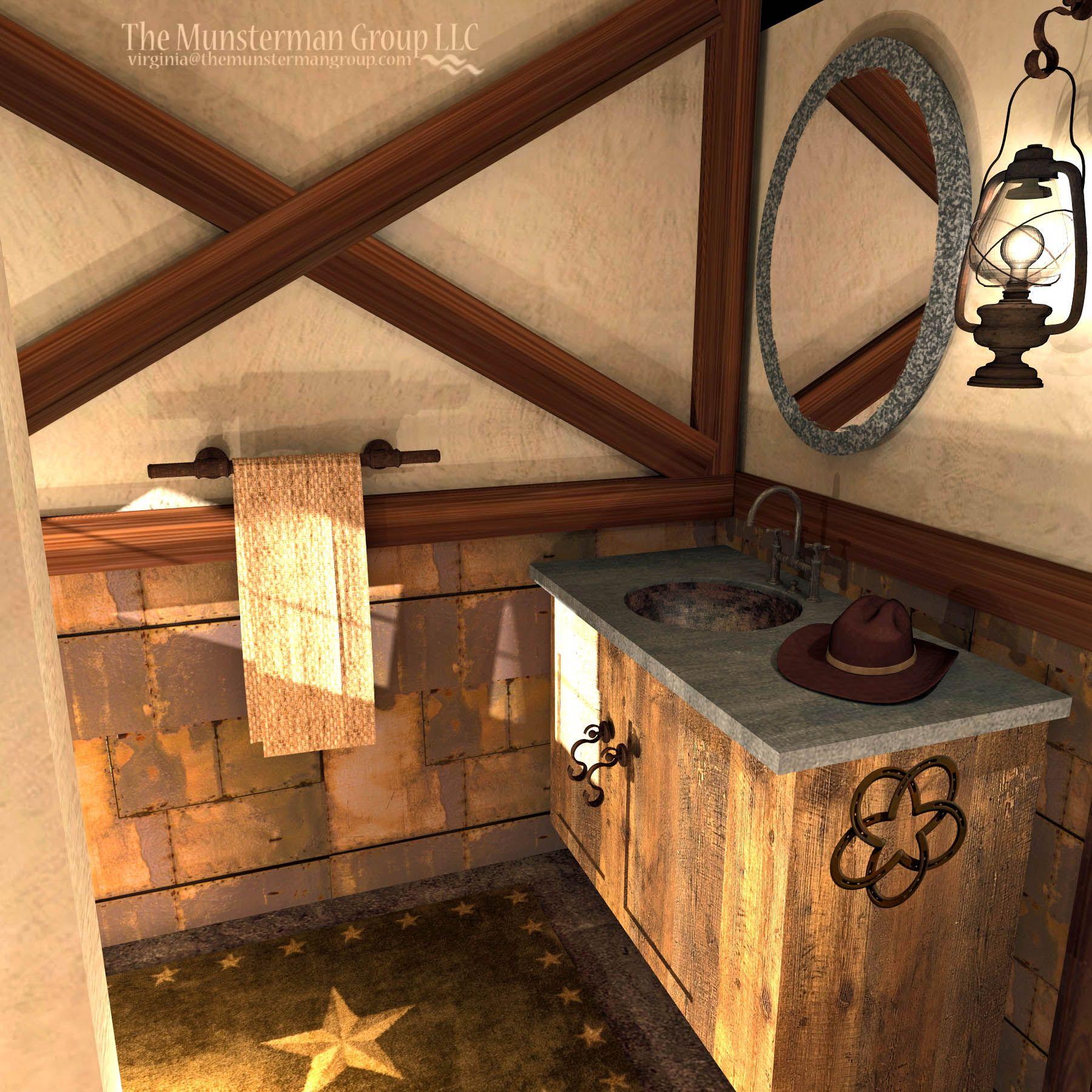 Bunk bath concept. Western/rustic. | western bathrooms ...