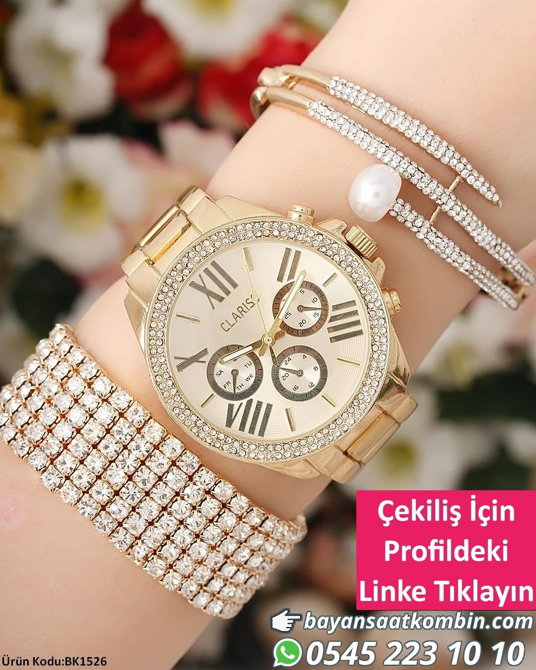 Saat Bileklik Kombini Urun Kodu Bk1526 Resimde Kac Adet Bileklik Varsa Saat Ile Hepsi Birlikte Gon Latest Women Watches Watches Women Fashion Womens Watches