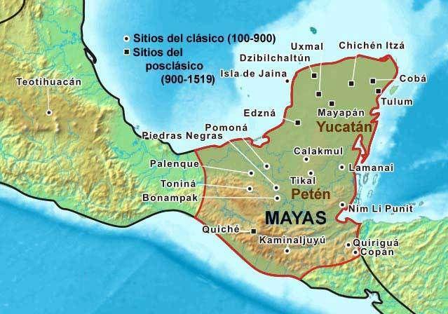 mapa cultura maya | Cultura zapoteca, Cultura maya, Civilizacion maya