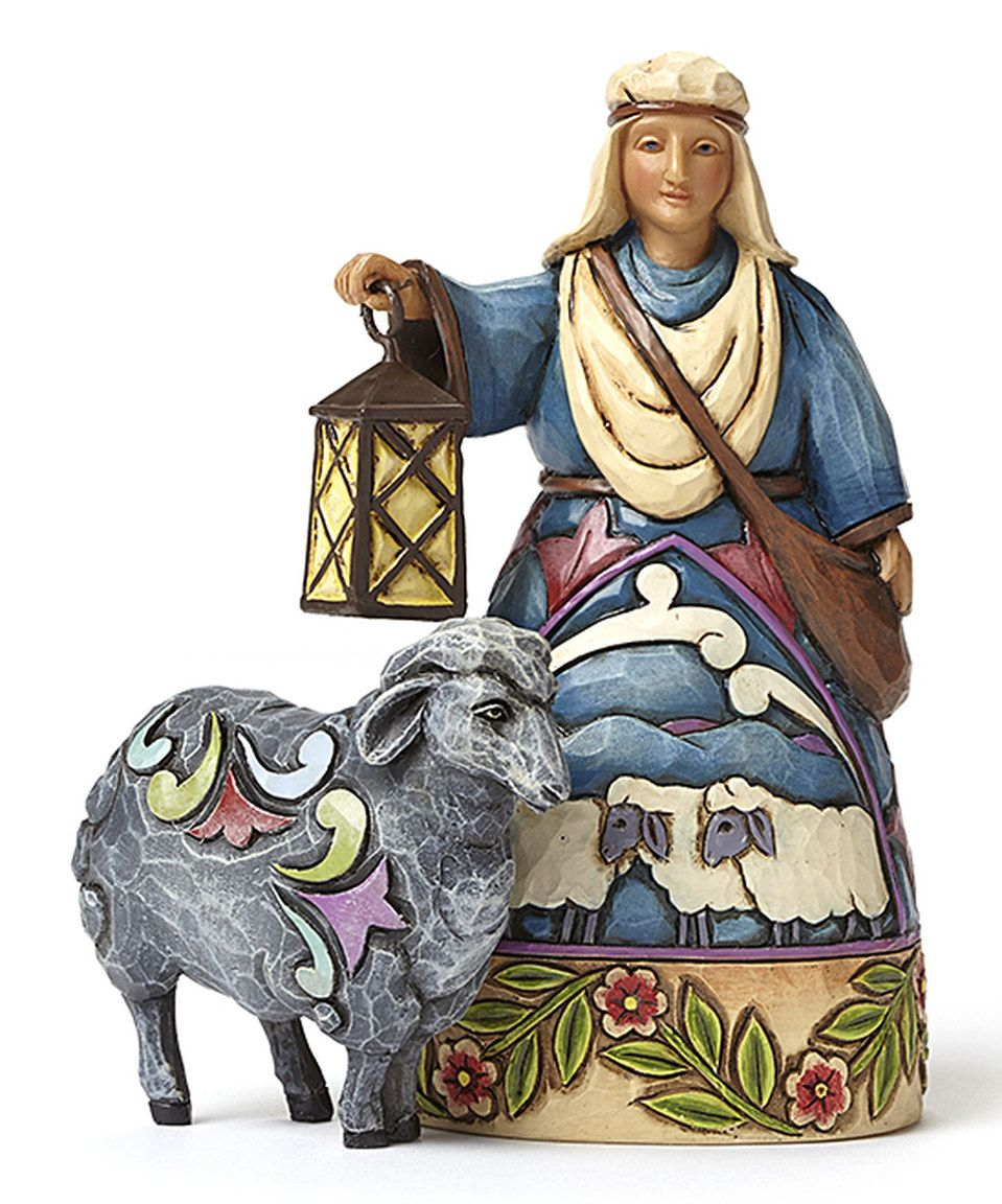 Loving This Jim Shore Mini Nativity Shepherd Sheep Figurine On Zulily Zulilyfinds Sheep Jim Shore Art