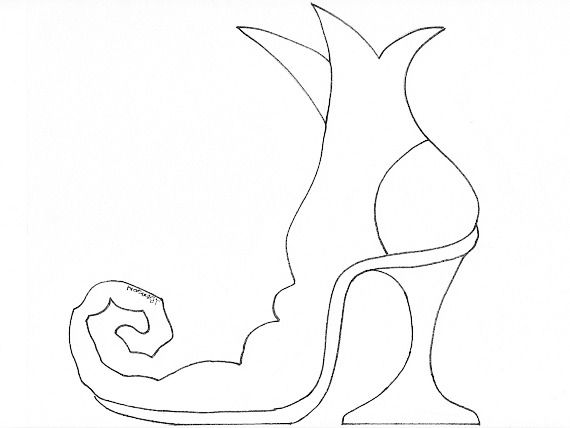 Free witch shoe template use a pencil to draw in the details of free witch shoe template use a pencil to draw in the details of the boot on the cutout then maxwellsz