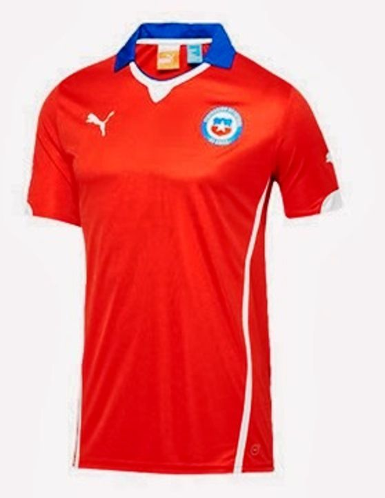 c4b02b034 Puma Chile Home Jersey World Cup 2014 Red (S) on http