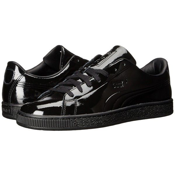 0226c2207797f7 PUMA Basket Classic Patent Emboss (PUMA Black) Men s Basketball Shoes (£57)  ❤ liked on Polyvore featuring men s fashion