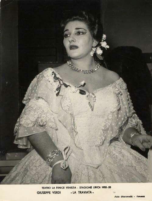 Callas Traviata 1953 Maria Callas Calla Women