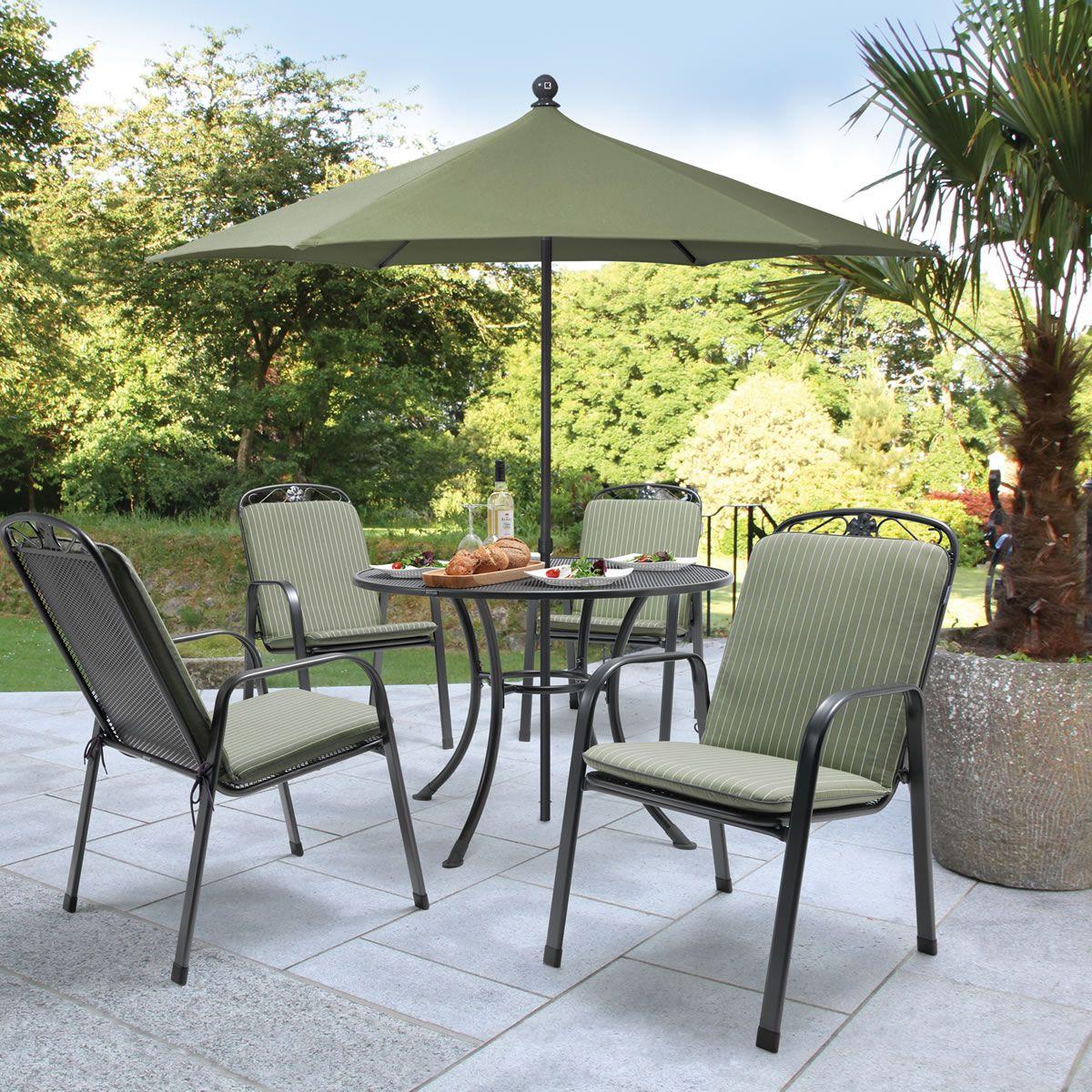 kettler siena 4 seat round mesh set ksienset06 garden furniture world