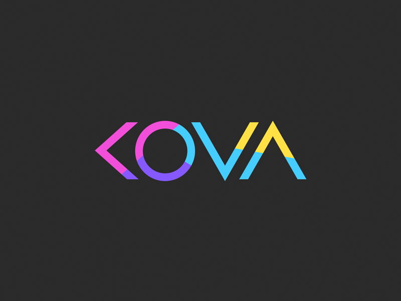 KOVA logo design Logo agencia de publicidad, Logotipo