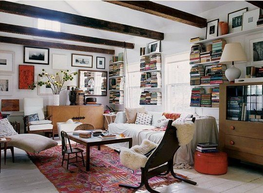 17 Ways to Squeeze in a Few Extra Books   Living rooms, Apartment ...