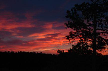 Sunset Blue Mountain CO