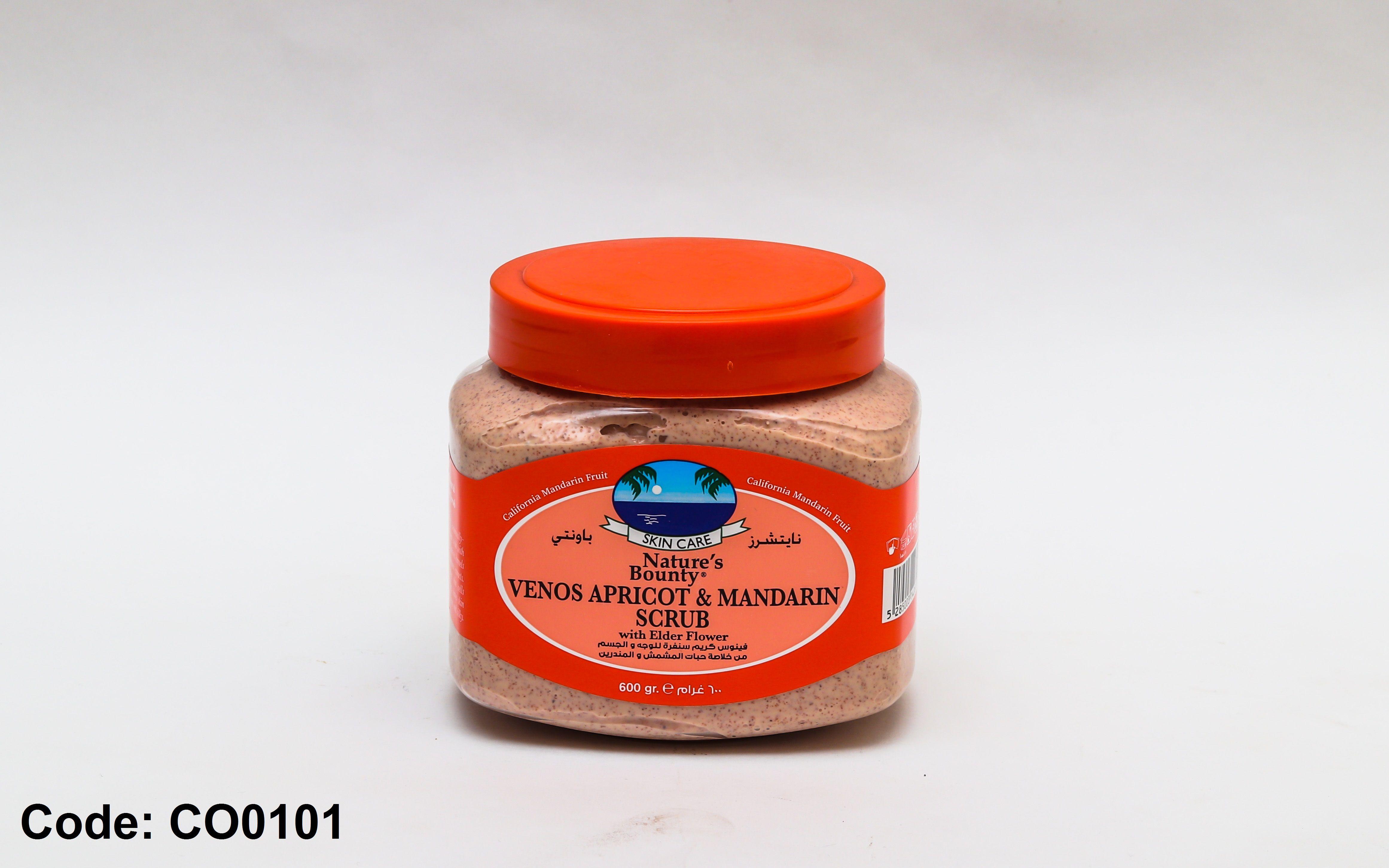 فينوس كريم سنفرة للوجه و الجسم مشمش و المندرين بسعر 135ج بدل من 230ج Nature S Bounty Apricot Mustard Bottle