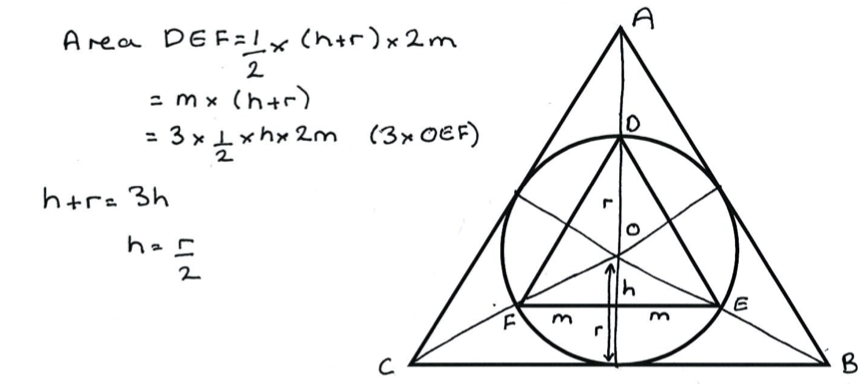 Geometry Problems: Circles and Triangles aligned with
