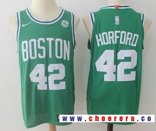 Men s Boston Celtics  42 Al Horford Green 2017-2018 Nike Swingman General  Electric Stitched NBA Jersey 119077f28