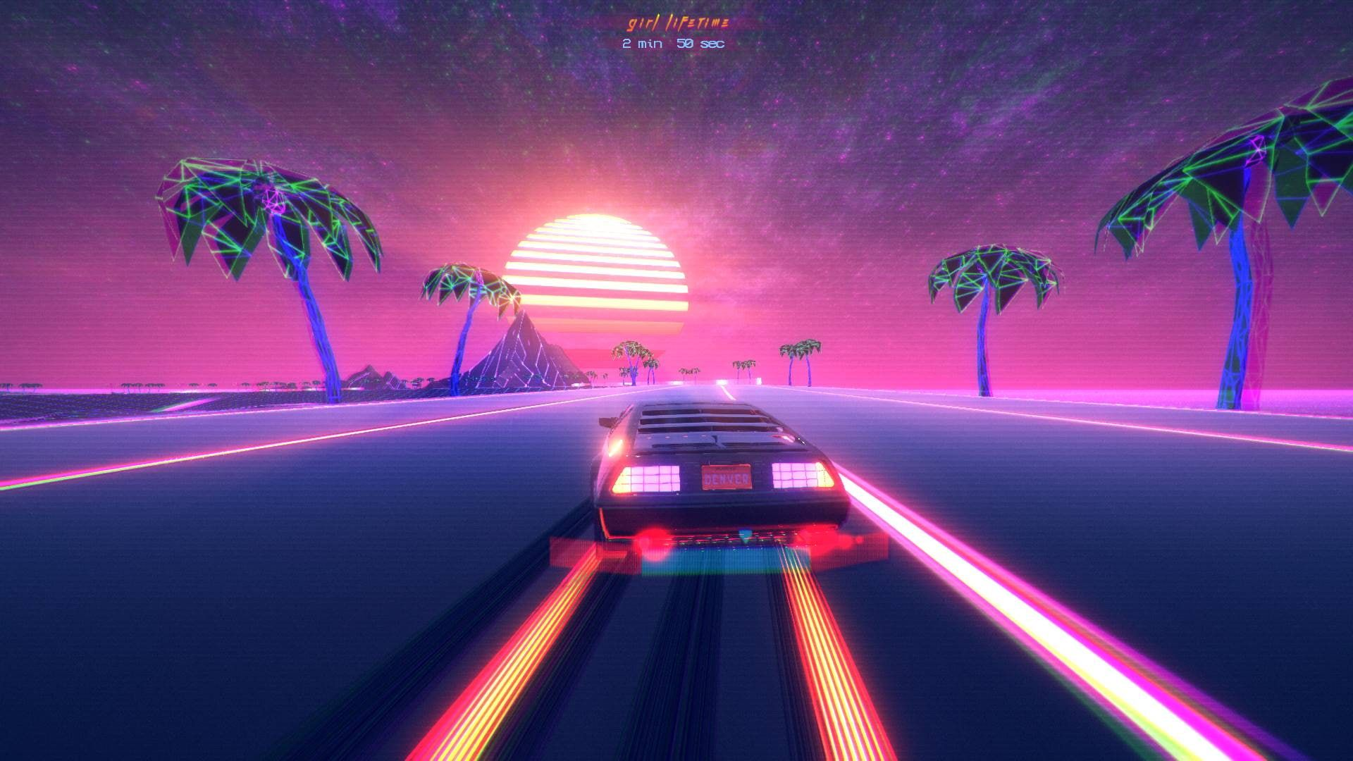 Video Game Outdrive Car Chillwave Neon Outrun Pink Retro Wave Retrowave Vaporwave 1080p Wallpaper Hdwallpa Vaporwave Wallpaper Retro Waves Vaporwave