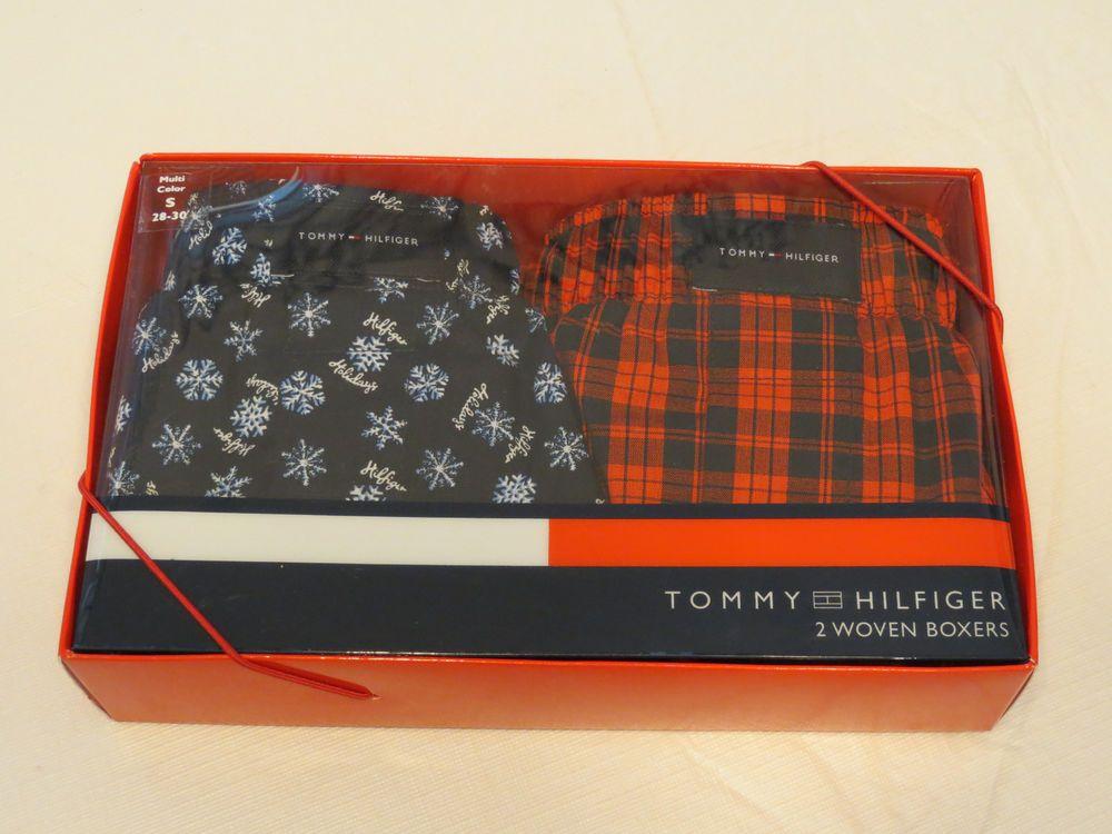 Men's Tommy Hilfiger TH boxer shorts 2 pack cotton Woven Boxers 107709 S 28-30 #TommyHilfiger #2wovenboxers