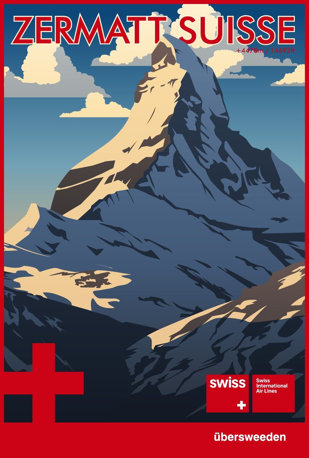 Zermatt Switzerland The Matterhorn Travel Poster Travel Posters Vintage Ski Posters Ski Posters