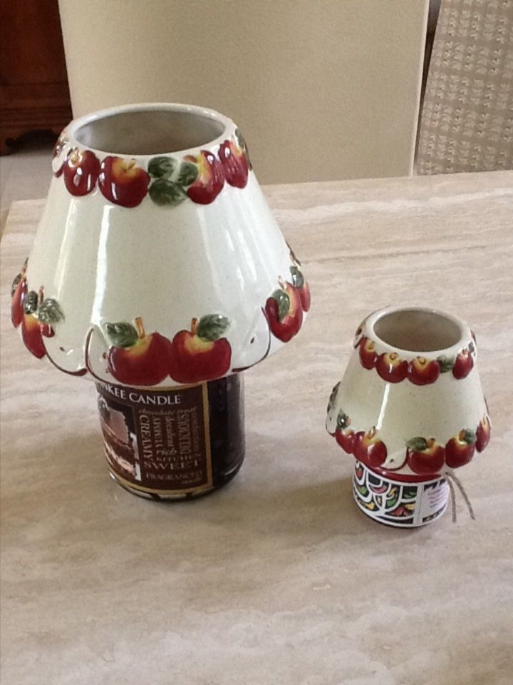 Yankee Candle Topper Lamp Shade Matching (1) Large (1) Small Apple