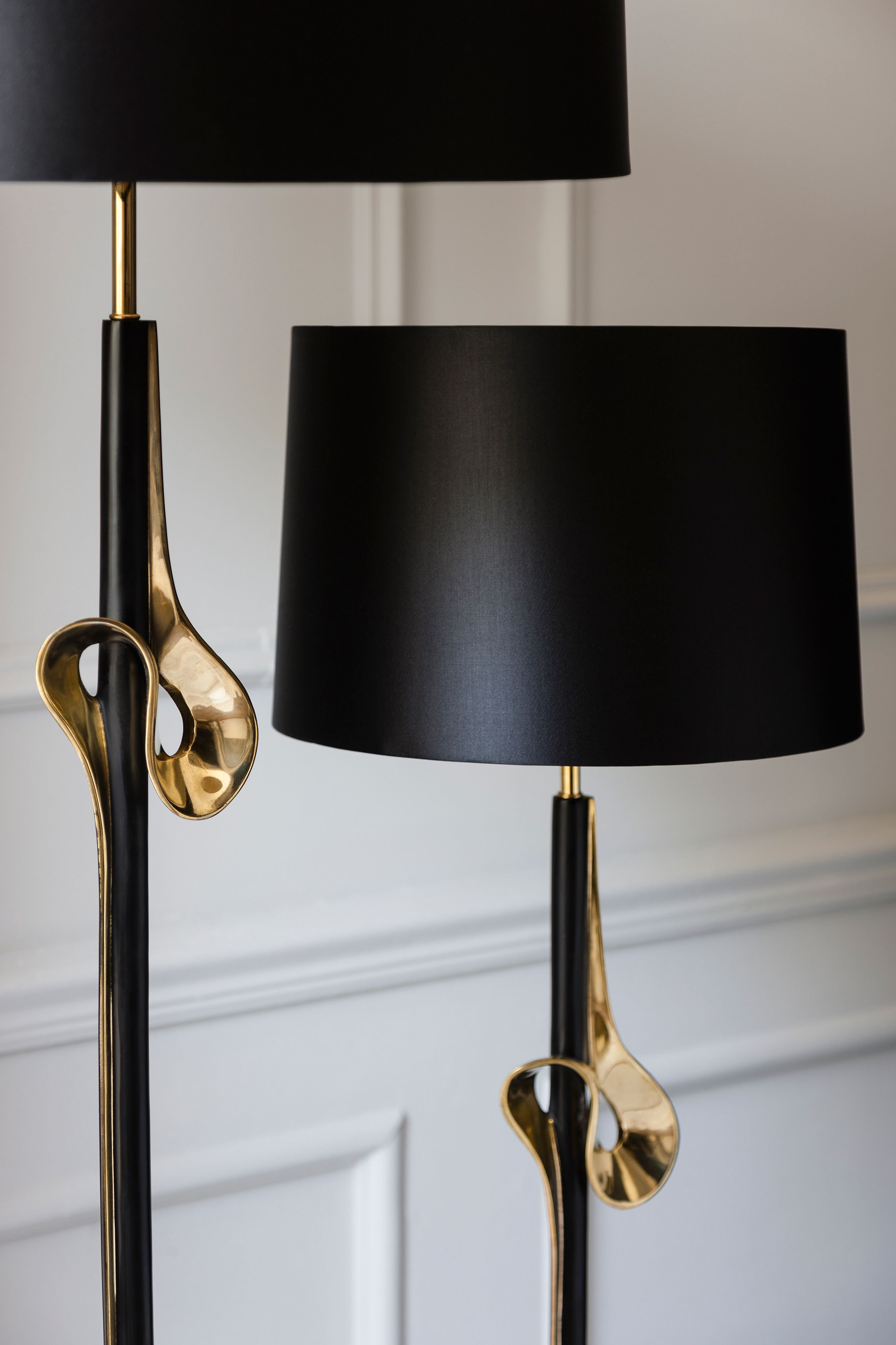 Heathfield And Co Olympus Floor Lamp With Br Detailing